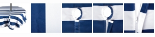 """Design Imports Nautical Blue Cabana Stripe Outdoor Table cloth with Zipper 52"""" Round"""