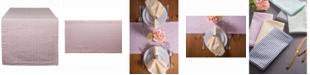 "Design Imports Rose Seersucker Table Runner 14"" X 108"""