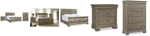 Furniture Reprise Driftwood Bedroom Furniture, 3-Pc. Set (King Bed, Nightstand & Chest)