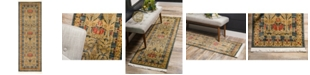 Bridgeport Home Orwyn Orw3 Blue 2' x 6' Runner Area Rug