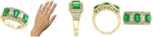 EFFY Collection EFFY® Emerald (1-5/8 ct. t.w.) & Diamond (3/4 ct. t.w.) Ring in 14k Gold