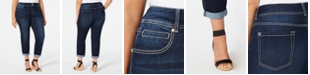 INC International Concepts INC Plus Size Tummy Control Boyfriend Jeans, Created for Macy's