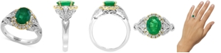 EFFY Collection EFFY® Emerald (1-1/2 ct. t.w.) & Diamond (3/8 ct. t.w.) Ring in 14k Gold & White Gold