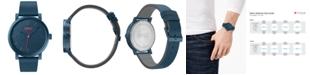 HUGO Men's #Rase Blue Leather Strap Watch 42mm