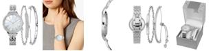 INC International Concepts INC Women's Silver-Tone Bracelet Watch 36mm & Matching Bracelets Set, Created for Macy's