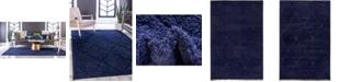 Bridgeport Home Filigree Shag Fil1 Navy Blue Area Rug Collection