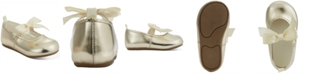 First Impressions Baby Girls Gold Scallop Walker Flat, Created for Macy's