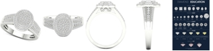 Macy's Diamond Oval Cluster Statement Ring (1/2 ct. t.w.) in Sterling Silver