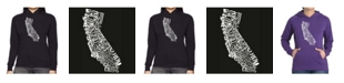 LA Pop Art Women's Word Art Hooded Sweatshirt -California State