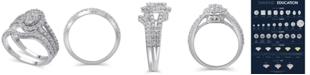 Macy's Certified Diamond (1-1/2 ct. t.w.) Bridal Set in 14K White Gold