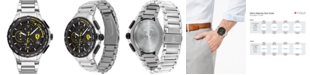 Ferrari Men's Chronograph Pista Stainless Steel Bracelet Watch 44mm