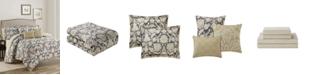 Mytex Alexandra Floral  10-Piece Reversible Full/Queen Comforter Set