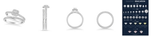 Macy's Diamond Halo Bridal Set (3/4 ct. t.w.) in 14k White, Rose or Yellow Gold