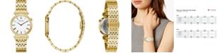 Bulova Women's Regatta Gold-Tone Stainless Steel Bracelet Watch 30mm
