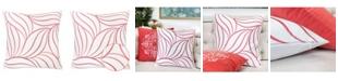 Homey Cozy Melanie Embroidery Square Decorative Throw Pillow