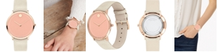 Movado Women's Swiss Modern 47 Ivory Leather Strap Watch 40mm