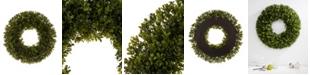 "Glitzhome 18"" D Artificial Boxwood Wreath"