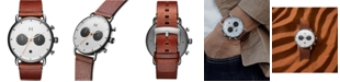 MVMT Men's Chronograph Rugged Pack Sienna Tan Leather Strap Watch 47mm