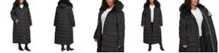 Calvin Klein Plus Size Faux-Fur-Trim Hooded Maxi Puffer Coat