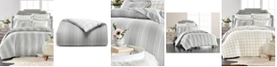 Martha Stewart Collection Modern Stripe Flannel Twin Duvet Cover, Created for Macys