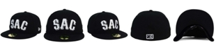New Era Sacramento River Cats Black and White 59FIFTY Fitted Cap