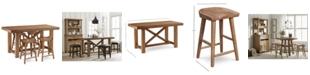 Furniture Brewing Collection, 5-Pc. Furniture Set (Gathering Table & 4 Hops Saddle Seat Gathering Stools)