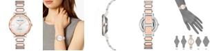 Anne Klein Women's Diamond-Accent Two-Tone Bracelet 32mm