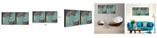 "Chic Home Decor Veneta 2 Piece Framed Canvas Wall Art Abstract Design -23"" x 46"""