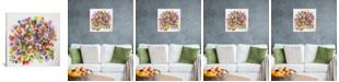"iCanvas ""Beach Peas"" By Kim Parker Gallery-Wrapped Canvas Print - 12"" x 12"" x 0.75"""