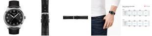 Tissot Men's Swiss Gent XL Black Leather Strap Watch 42mm