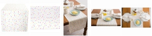 "Design Imports Multi Polka Dots Print Table Runner 14"" X 108"""
