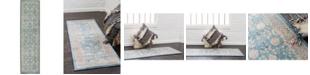 """Bridgeport Home Bellmere Bel3 Light Blue 2' 7"""" x 10' Runner Area Rug"""