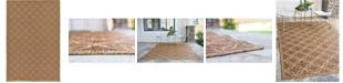 Bridgeport Home Pashio Pas6 Light Brown 7' x 10' Area Rug