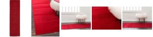 """Bridgeport Home Axbridge Axb3 Red 2' 9"""" x 9' 10"""" Runner Area Rug"""