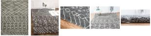 Bridgeport Home Fazil Shag Faz2 Gray 9' x 12' Area Rug