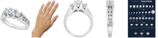 Macy's Diamond Three-Stone Channel-Set Engagement Ring (1-1/2 ct. t.w.) in 14k White Gold