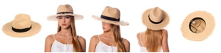 Epoch Hats Company Angela & William Raffia Straw Raw Edge Panama Hat