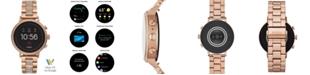 Fossil Women's Tech Venture Gen 4 HR Rose Gold-Tone Stainless Steel Bracelet Touchscreen Smart Watch 40mm, Powered by Wear OS by Google™