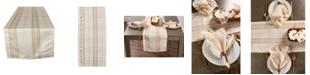 Design Imports Metallic Plaid Table Runner