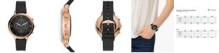 Fossil Tech Charter Black Leather Strap Hybrid Smart Watch 42mm
