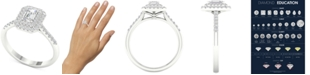 Macy's Diamond Triple-Halo Engagement Ring (3/4 ct. t.w.) in 14k White Gold