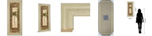 """Classy Art Scroll Palm Il by Carol Robinson Framed Print Wall Art - 18"""" x 42"""""""