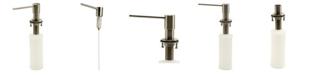 ALFI brand Modern Round Brushed Stainless Steel Soap Dispenser