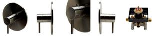 ALFI brand Brushed Nickel Pressure Balanced Round Shower Mixer