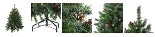 Northlight 4' Snowy Delta Pine with Pine Cones Artificial Christmas Tree - Unlit