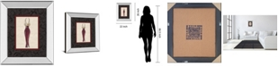 "Classy Art Fashion Dress II by Susan Osbourne Mirror Framed Print Wall Art, 22"" x 26"""