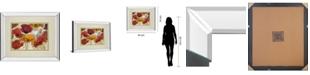 "Classy Art Happy Flowers by Katrina Craven Mirror Framed Print Wall Art, 34"" x 40"""