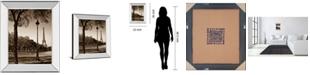 "Classy Art An Afternoon Stroll-Pari by Maihara J. Mirror Framed Print Wall Art, 22"" x 26"""
