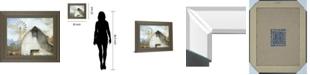 "Classy Art Barn Country by White Ladder Framed Print Wall Art, 22"" x 26"""
