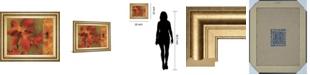 """Classy Art Crimson Garden by Asia Jensen Framed Print Wall Art, 22"""" x 26"""""""